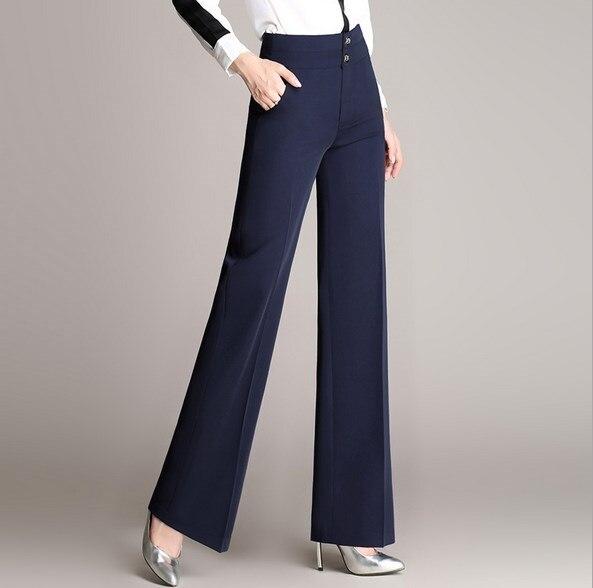 Rouge rouge Femmes Blue Bureau Pour 3xl Plus Moyen Noir Large Pantalon Noir Formelle Haute Bleu Taille Jambe La navy 4xl D'âge Palazzo ZrAq1wZf