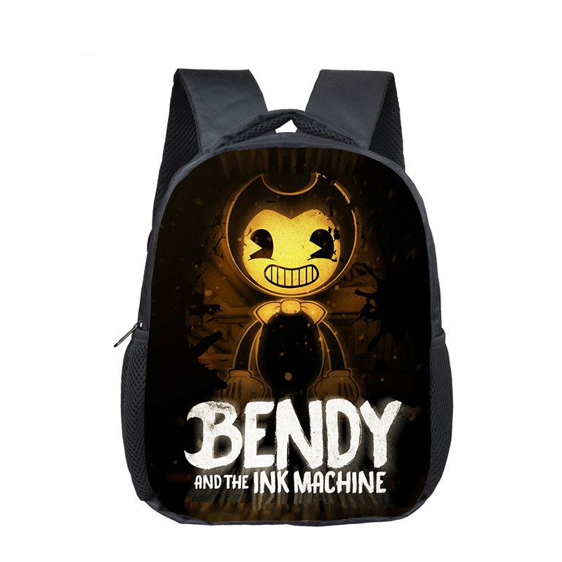 16 Inch Bendy And The Ink Machine Backpack Children School Bags Boys Girls Daily Travel Backpack Cartoon Mochila School Gifts
