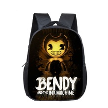 16 Inch Bendy and The Ink Machine Backpack Children School Bags Boys Girls Daily Travel Cartoon Mochila Gifts