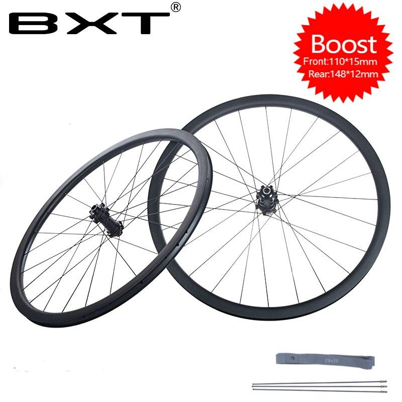 Super léger BXT 29er vélo montagne Boost roues 148*12mm 110*15mm vtt vélo roues frein à disque tubeless 24 trous pièces de vélo