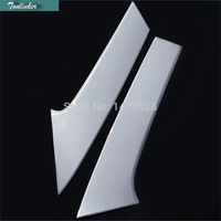 2 PCS Car NEW ABS Chrome Spoiler Rear Window Decoration Bright Side Cover Strip For 2014