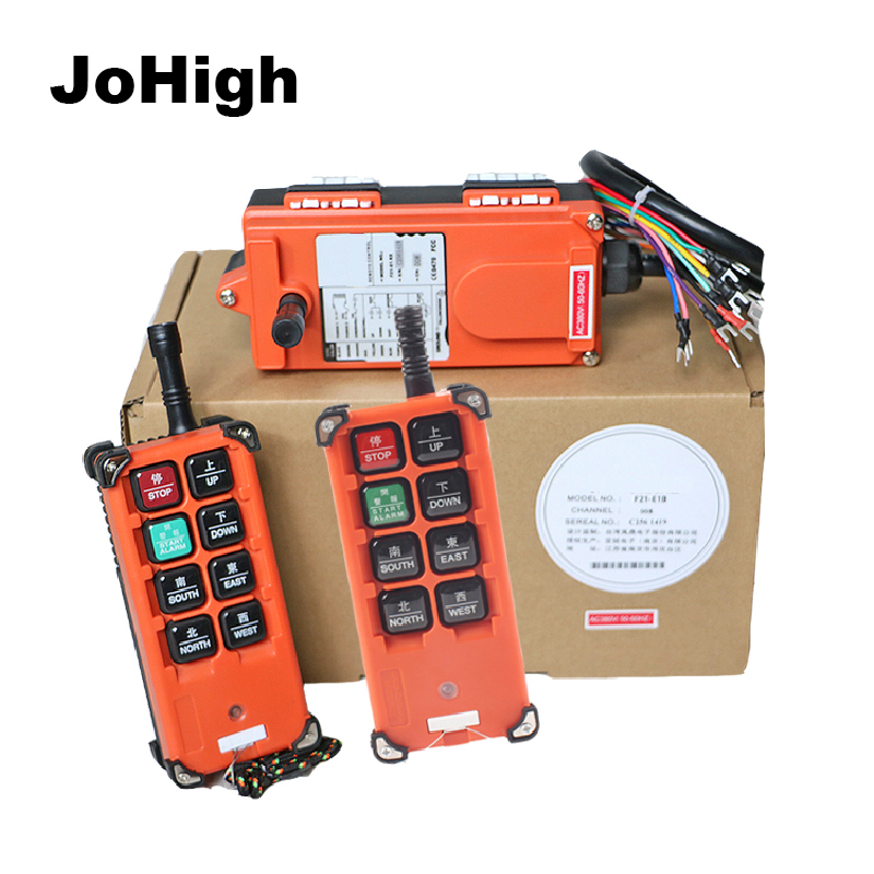 JoHigh F21 E1B Wireless Industrial Remote Controller Electric Hoist Remote Control 2 Transmitters 1 Receiver