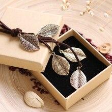 2016 New Love Long Necklace Women Jewelry Vintage multi Leavies necklaces & pendants Fashion Cotton Chain Necklace relogio