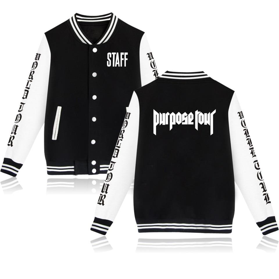 New Design Justin Bieber Purpose Tour College Baseball font b Jacket b font font b Women