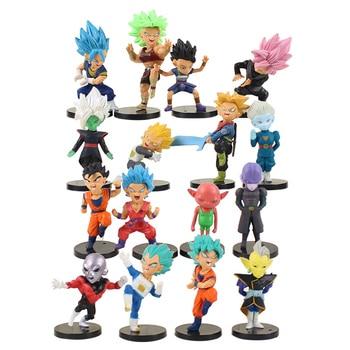 16pcs Small Dragon Ball Action Figures Set
