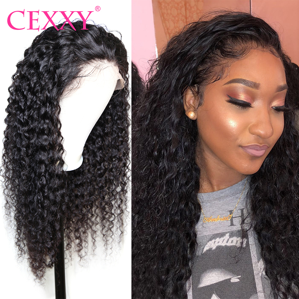 Cexxy Brazilian Lace Front Human Hair Wigs 4x4 Closure Lace Wigs Curly Human Hair Wigs for