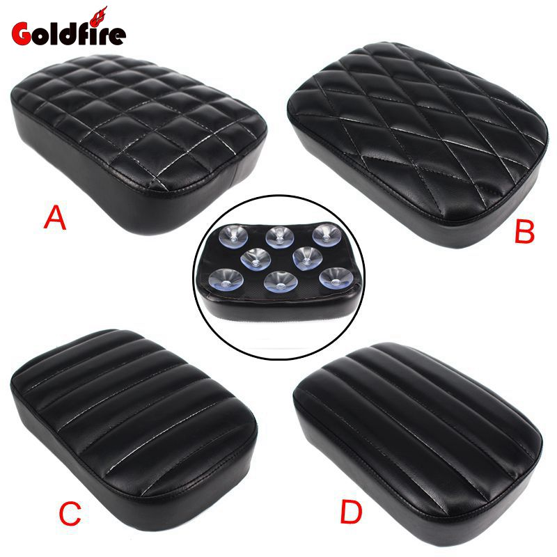 Black Motorcycle Rear Passenger Cushion Pillion Seat Pad Suction Cups For Harley /Dyna /Sportster /Softail Touring XL883 1200