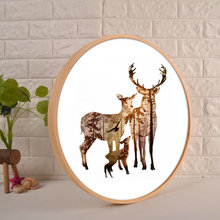 Round Photo Frame Creative Wall Hanging Wooden 50cm60cm70cm