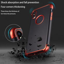 Luxury Plating Four corners thickened Phone Case For iPhone 6 6S plus X 7 8 Plus Frosted feel Soft TPU Protective Back Cover