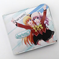 Anime Charlotte Tomori Nao PU Short Button Wallet/Purse with A Solid Anime Mark