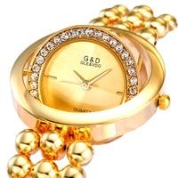 XG70 G D GLE VDO Luxury Womens Watches Silver Womem S Bracelet Watches Rhinestone Ladies Dress