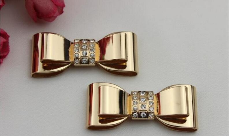 Metal hardware diamond bow shoes flower shoe buckle shoes accessories luggage accessories shoes accessories clothing accessories все цены