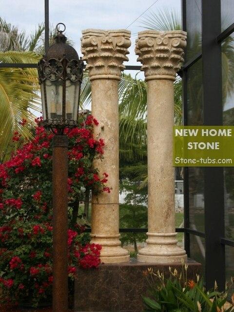 beige travertine roma columns landscaping beige marble stone columns 2015 new stone roma columns
