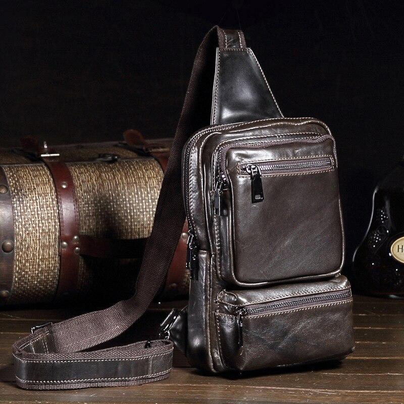 Новая мода Пояса из натуральной кожи Для мужчин сумка бренд Винтаж Сумки через плечо известный бренд небольшой Для мужчин Сумка Мешок Слинг...