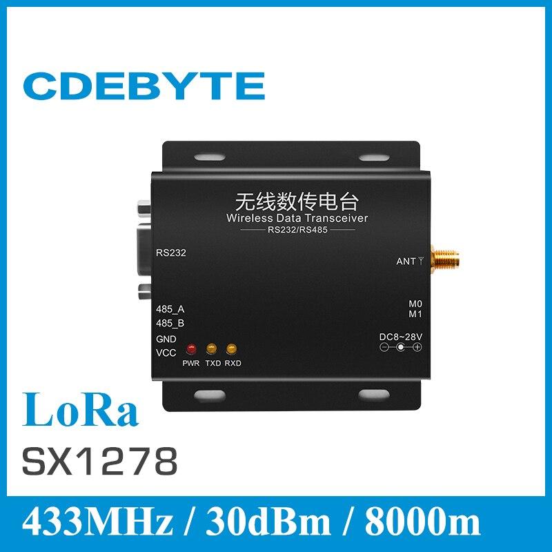 imágenes para CDEBYTE E32-DTU-1W RS485/rs232 DTU SX1278 LoRa Spread Spectrum Tecnología 433 mhz 433 MHz Módulo rf Inalámbrico para PLC