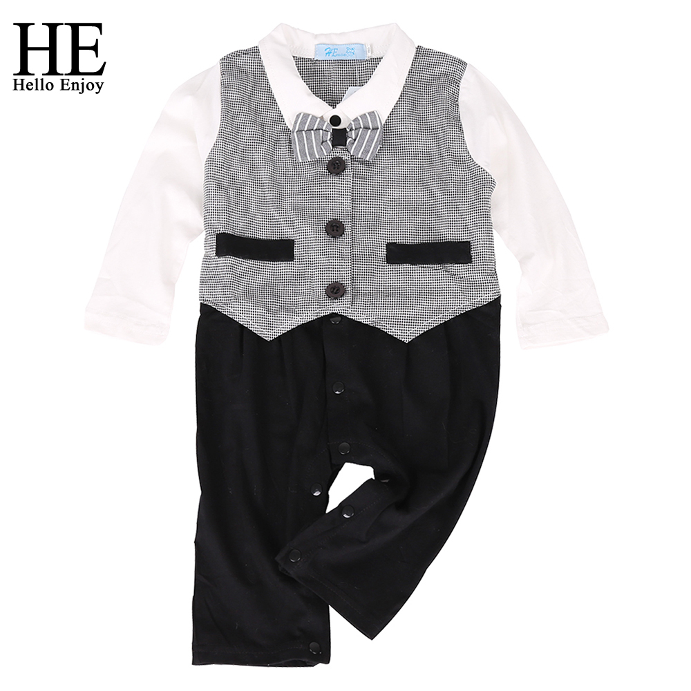 HE Hell enjoy the baby boy winter clothes suit fashion newborn boy clothing suit long-sleeved gentleman plaid bow tie tight set kids clothing set plaid shirt with grey vest gentleman baby clothes with bow and casual pants 3pcs set for newborn clothes