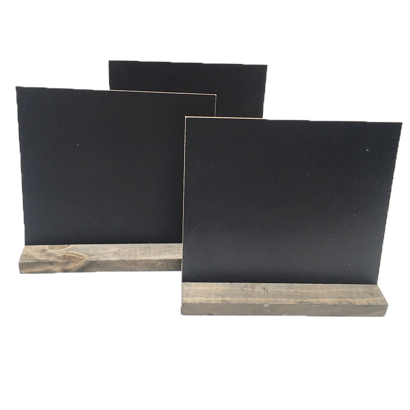 Black Board Stand Display Notice Message-Price Stationery DIY Wood 1pc