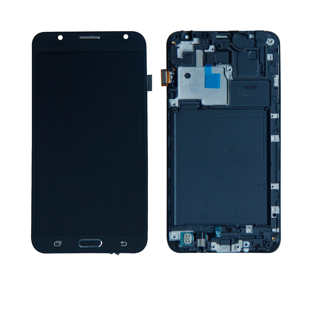 Livraison Gratuite Pour Samsung Galaxy J7 SM-J700M J700D Écran Tactile Digitizer Écran lcd Assemblée Frame Panneau Téléphone Remplacement