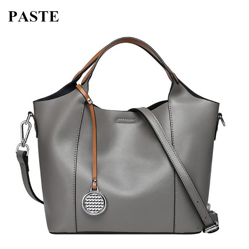 2017 New Autumn &Winter Women Genuine Leather Handbags European and American Style Fashion Shoulder Bag Cowhide Totes for Ladies  creative new brand women retro genuine leather shoulder bag european and american style woman bag postman package with rivets