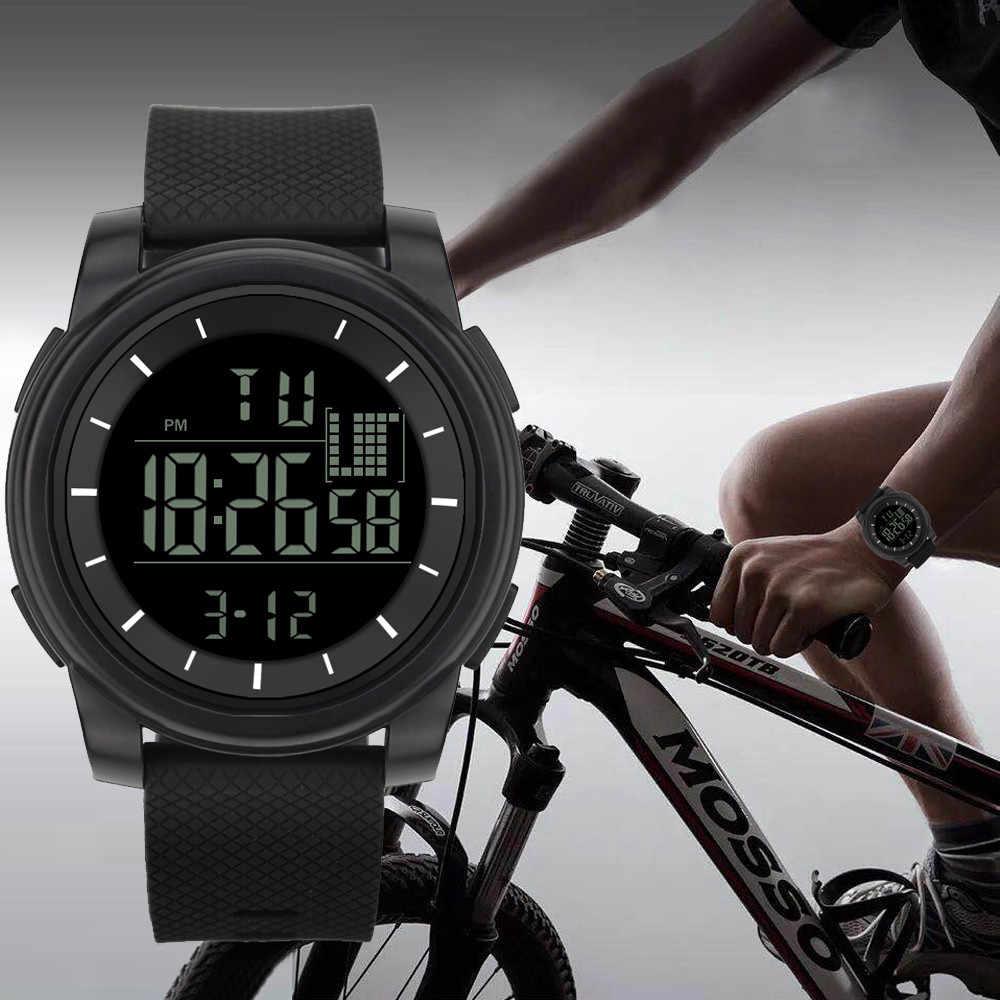 Luxo masculino militar esporte led à prova dwaterproof água relógio de pulso esporte relógio eletrônico digital presentes relógio de pulso luminoso
