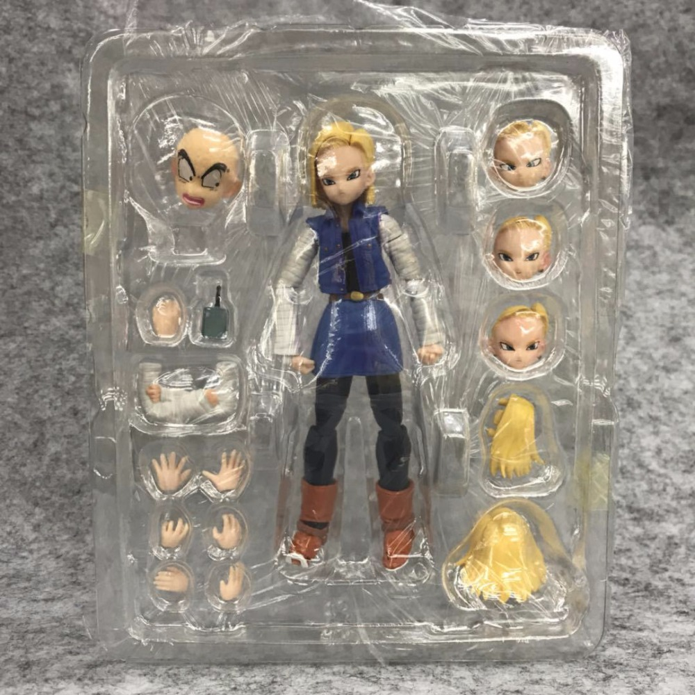 13cm Dragon Ball Z Android 18 Lazuli Joint movable action figure PVC toys collection doll anime cartoon model for friend gift 13cm action figure toys artist movable male female joint figure body model mannequin bjd art sketch draw figures kawaii figurine