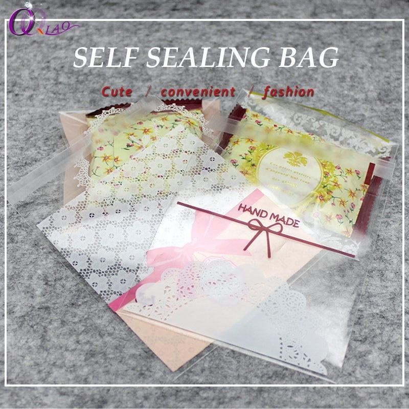 100 шт./упак. белый прозрачный пластик сумки для дня рождения Свадебные украшения выпечки печенья подарок упаковка для конфет