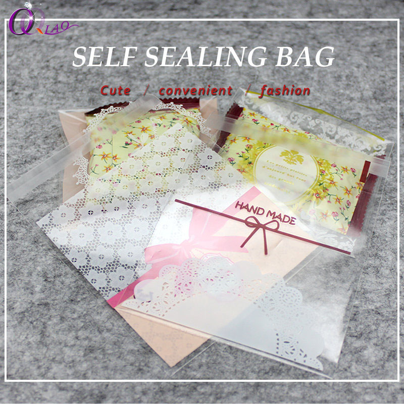 100 Pcs Triangle Clear Cellophane Bags OPP Bags Sweet Candy Party Supplies Q