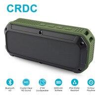 CRDC Bluetooth Speaker 4 0 Portable Wireless Mini Sound Box Column Three Proofing Outdoor Design Bass