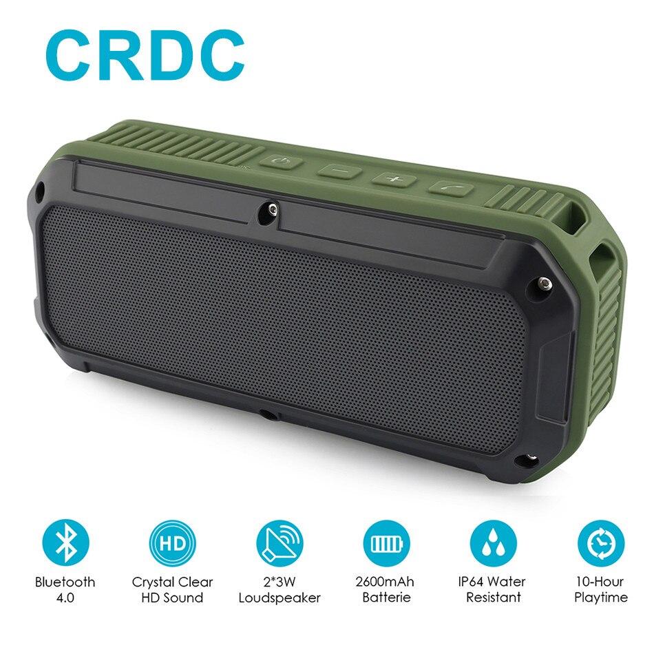 CRDC Bluetooth speaker 4.0 Portable Wireless Mini Sound Box Column Three Proofing Outdoor Design Bass Audio Player With Mic