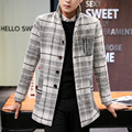 New 2016 Coat Men Fashion Winter  Coat Slim Fit Jacket Outerwear Warm Male Casual Overcoat Coat Plus Size M-3XL