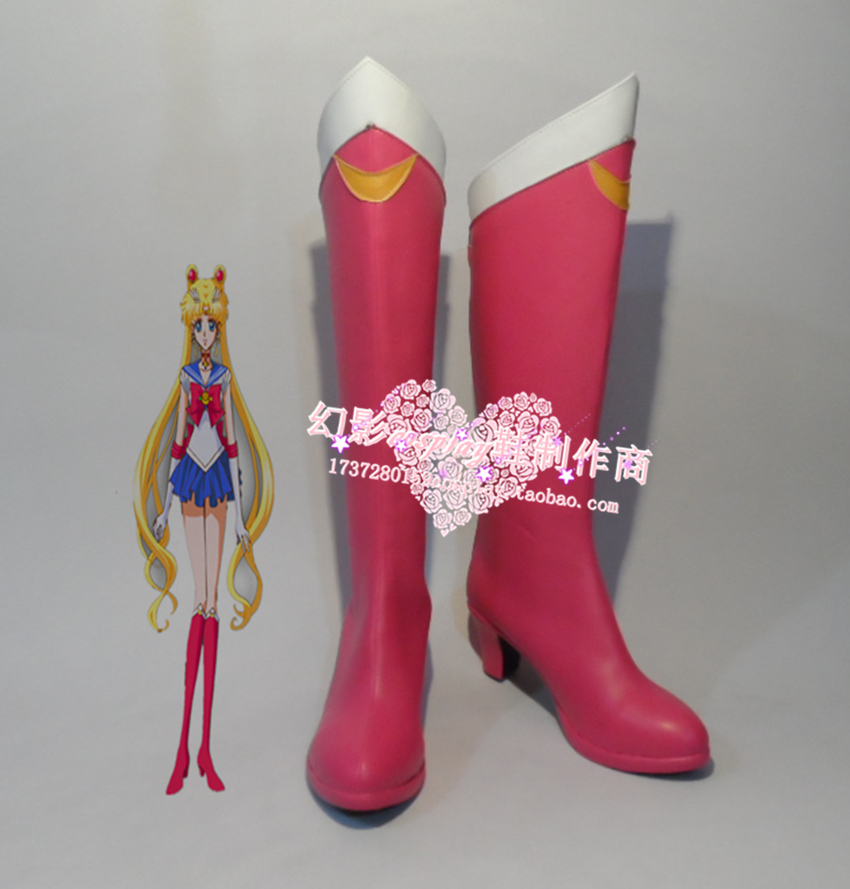 Sailor Moon Crystal red cosplay Shoes Boots