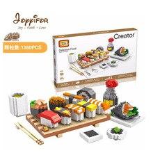 Joyyifor Hamburger Coke Mini House Sushi Set Delicious Food Assembly DIY Mini Building Block Educational Toys for Children Gifts