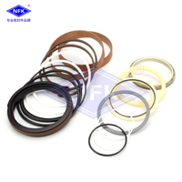 free shipping large arm / boom arm / bucket cylinder oil seal repair package kit for R215 /7 R225 9 excavator inlet digger parts