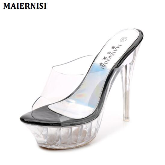 les chaussures à talons de chaussures cosplay de 16 cm à fringe crystal pantoufles chaussures M2cRg