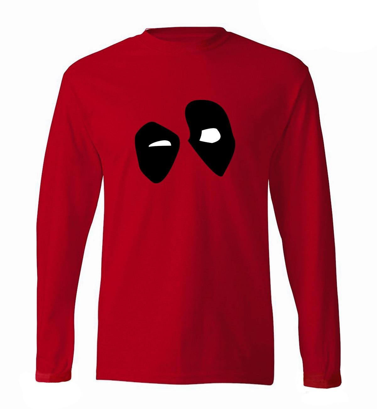 Hero Deadpool men long sleeve o-neck t-shirts 2019 spring new 100% cotton fitness brand clothing Deadpool hip hop man top tees