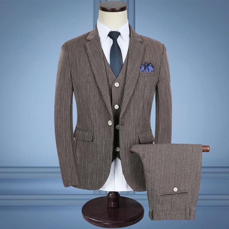 Pantalon Gilet tz69 De Décontractée 2018 Tz70 Taille Costume Nouveaux Costumes Rayé tz75 Hommes D'affaires 5xl costumes Trois pièce Veste pqx5dwCq