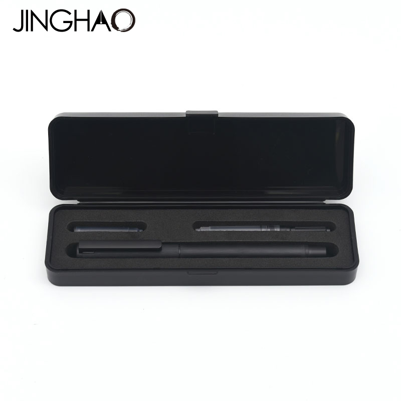 Jinghao KACO TUBE Series Luxury Black Fountain Pen Set 0.5mm F Nib Steel Ink Pens for Simple Business Gift Free Shipping купить в Москве 2019