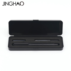 Jinghao KACO TUBE Series Luxury Black Fountain Pen Set 0.5mm F Nib Steel Ink Pens for Simple Business Gift Free Shipping