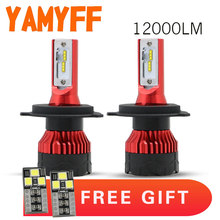 YAMYFF 2Pcs Car Headlight H7 LED H4 LED Bulb H1 H11 H3 HB3 9005 9006 H27 880 12000LM 6500K Fog Light 12V CSP Auto Headlamp Lamps(China)
