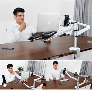 Universal 2 In 1 Two Arms Tablet Notebook Stand For IPad For Macbook 7-10 Tablets 10-15