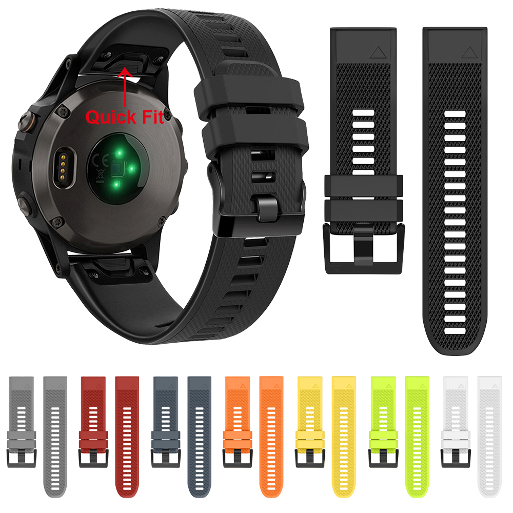 22 26mm Band for Garmin Fenix 5 5xPlus Quick Release Silicone Wrist Strap for Garmin Instinct Forerunner 945 935 Watch Watchband image