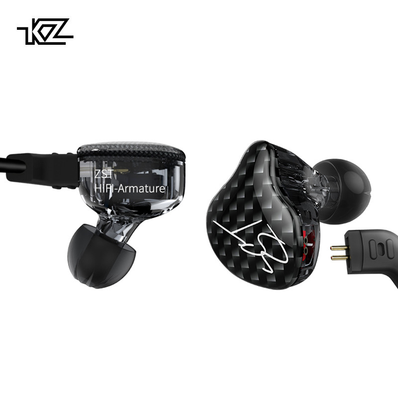 все цены на KZ ZST Dual Driver Earphone Dynamic And Armature Detachable Cable Monitors Noise Isolating HiFi Music Sports Earbuds 1DD+1BA