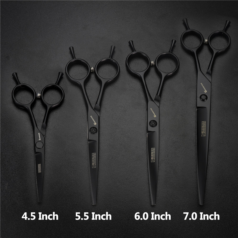 Купить с кэшбэком Professional hairdressing scissors high quality japan 440c 4.5 inch 5.5 inch 6 inch 7 inch cutting beard scissors thinning shear