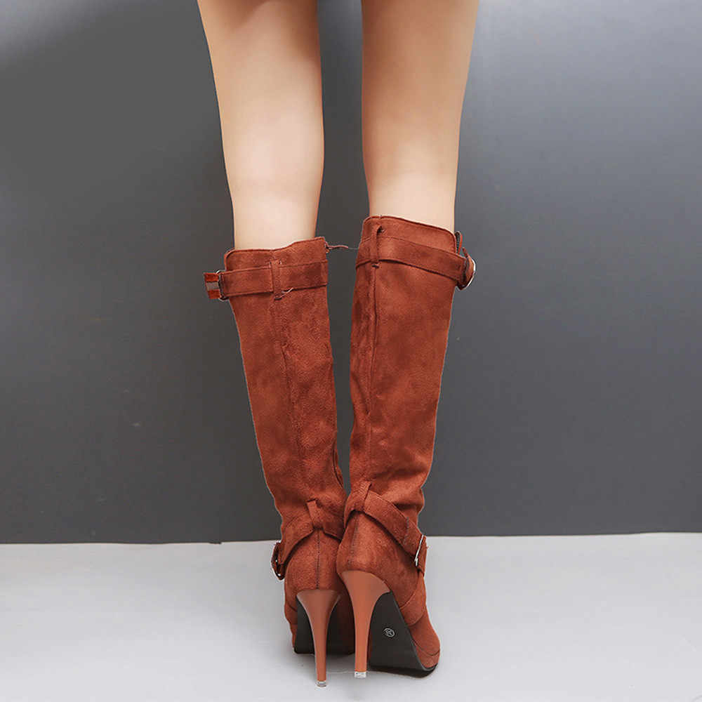YOUYEDIAN женская обувь с пряжкой на платформе в римском стиле, ботфорты на высоком каблуке ботинки на шнуровке ботинки с высоким голенищем на высоких каблуках; sapatos mulheres кукла трансфер до/из аэропорта # a35