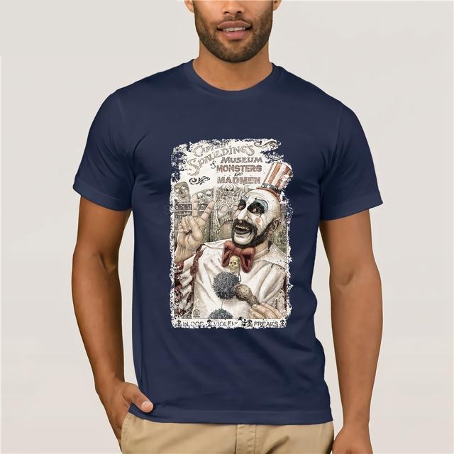 Captain Spaulding Premium Black regular fit horror T Shirt by William Anderson  Cool Casual pride t shirt men Unisex New