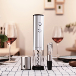Image 5 - Oringnal Youpin Circle Joy Electric Bottle Opener Stainless Steel Electric Corkscrew Foil Cutter Base Cork 4 In 1 Gift Box