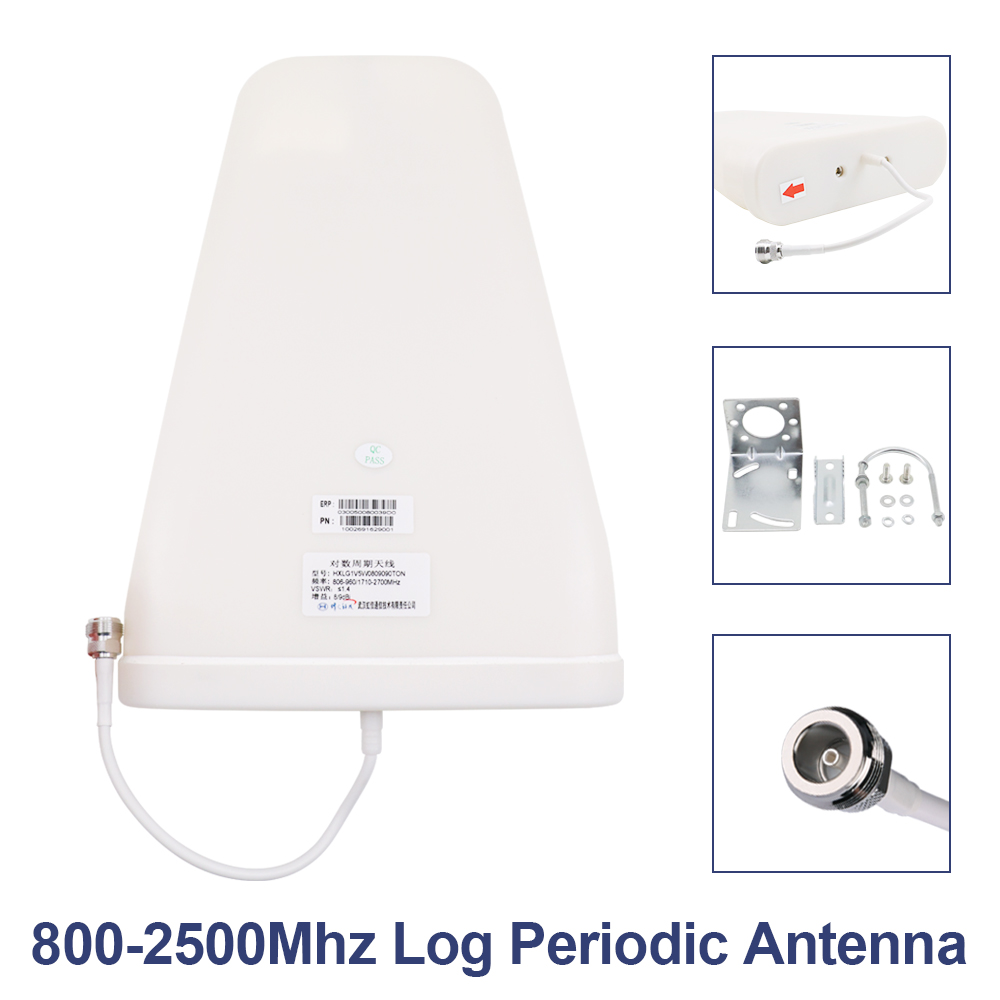 LCD Display GSM 900 UMTS 1800 mhz Dual Band Repeater 2G 3G 4G LTE Phone Amplifier Cellular Mobile Booster +LPDA /Ceiling Antenn 5