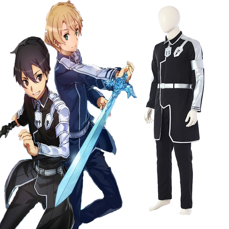 Newest Anime Sword Art Online Cosplay Costume Kazuto Kirigaya Cosplay Costume Halloween Carnival Party Customized Kirito Costume