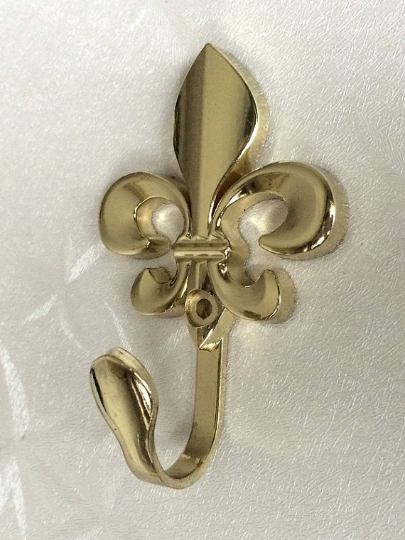 Vintage Inspired Wall Hooks Metal Fleur De Lis Decor Cottage Chic Gold Curtain Tie Backs French Country Coat Hangers In From Home Improvement