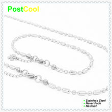 PostCool Fashion Jewelry Set high quality Stainless Steel never fade Necklace40/50/60/70/80/90cm/Bracelet18/20/22cm small gift15(China)
